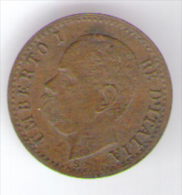 REGNO D' ITALIA - 1 CENTESIMO - UMBERTO I (1895 - ZECCA: ROMA) - ITALIAN KINGDOM - - 1861-1946 : Regno