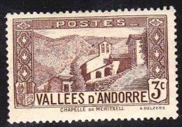 Andorra (French) Scott    25 Mint LH VF - French Andorra