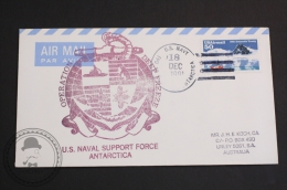 December 18, 1991 Cover - U.S. Naval Support Force Antarctica - Air Mail: U.S. Navy Postmarked - Navires & Brise-glace