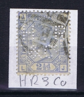 Great Britain SG  157 Plate 23 Used  1880  PERFIN HR & CO - Gebruikt