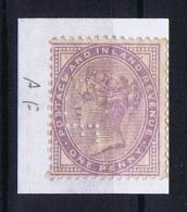 Great Britain SG  171 MH/* PERFIN    AF - 1840-1901 (Viktoria)