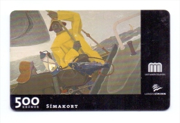 ICELAND PHONECARD ICE-C-01 500 Kronur  ,GUNNLAUGUR SHEVINGS PAINTING-1/95-USED