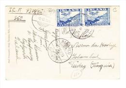 1935 AK Langjökull Gesendet Von Rejkawik Nach Istambul Pangalti - Poste Aérienne