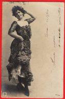 [DC6341] CARTOLINA - DONNA CON VESTITO MODA - Viaggiata 1904 - Old Postcard - Femmes