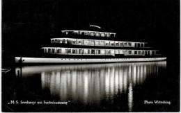 Thème - Bateau - MS Seeshaupt Mit  Festbeleuchtung - Déchirure (Riss) Bord Gauche - Steamers