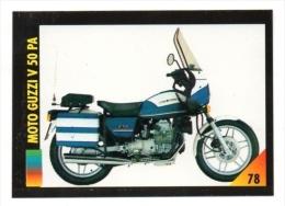 FIGURINA TRADING CARDS: LA MIA MOTO /MY MOTORBIKE - MASTERS EDIZIONI (1993) - MOTO GUZZI V50 PA (POLIZIA POLICE) - Motori
