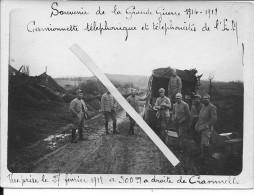 Aisne Craonnelle Camionnette Téléphonique Et Téléphonistes De L´E.M 27/2/1918 1 Photo 1914-1918 14-18 Ww1 WWI 1.wk - War, Military