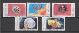 Yvert 2366 / 2370 Série Complète Coeur De Fleur Tulipe Lys Hibiscus Calla Amaryllis - Svezia