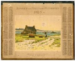 Almanach Des Postes Et Télégraphes 1925 -aquarelle De Léon Roger - Departement Aude - Calendriers
