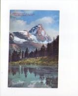 Cartolina Valtournenche - Valle D'Aosta. Lago Bleu O Layet E Cervino. - Unclassified