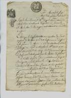 Cachet De Généralité :  SAVOIE  *  5   SOLS  * 1811  - Marque Duché Ou Sarde - Victor Emmanuel - Archive Privée - Cachets Généralité