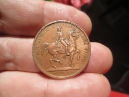 LOUIS PHILIPPE I ROI DES FRANCAIS-  1842-  L´ARMÉE AU DUC D´ORLEANS PRINCE ROYAL  - GRAVEE PAR BARRE - Médailles & Décorations