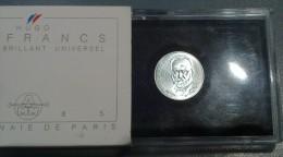 FRANCIA 10 FRANCS 1985 HUGO BU ARGENT MONNAIE DE PARIS - Commemorative