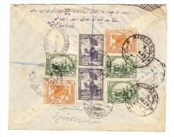 1924 R-Brief Von Bagdad Nach Constantinopel Mit R-Zettel Baghdad - Iraq