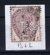 Great Britain SG  188 Used  1883 Yvert 77   PERFIN    B + L - Gebruikt
