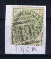 Great Britain SG  193 Used  1883 Yvert 82   PERFIN    ?ACM - Gebruikt