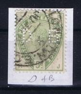 Great Britain SG  193 Used  1883 Yvert 82   PERFIN    D + B - Gebruikt