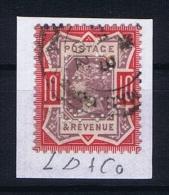 Great Britain SG  210  Used  1887 Yvert 102 PERFIN    LD & Co - Gebruikt