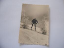 FOTO CUNEO FRABOSA SOPRANA  SCIATORE  MONTAGNA  ANNI 50 VINTAGE - Lieux