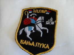 SERBIEN SERBIA BANJALUKA - Stoffabzeichen