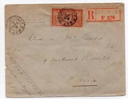 ENVELOPPE MILITAIRE RECOMMANDEE Du SECTEUR 135 Pour PARIS - SEUL 40c MERSON - Marcophilie (Lettres)