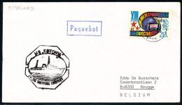 """ARCTIC, NORWAY, MS""""ESTONIA"""", PAQUEBOT Eidfjord, 11.7.1985, Ship Sunk 28.4.1994 !! - Arktis Expeditionen"""