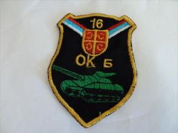 SERBIEN SERBIA TANK - Stoffabzeichen
