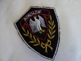 SERBIEN SERBIA   SOKOLOVI - Stoffabzeichen