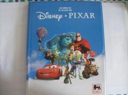 DISNEY PIXAR - Les Heros De Helden Van Disney Pixar - ALBUM COMPLET + Les 5 Cards Dorée- Editer Par Les  Magasins Delhai - Disney
