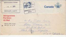 QUEEN ELISABETH 2ND, STAMP ON AEROGRAMME, 1976, CANADA - Poste Aérienne