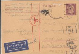 ADOLF HITLER, 3RD REICH SPECIAL ROUND STAMPS, PC STATIONERY, ENTIER POSTAL, 1942, GERMANY - Briefe U. Dokumente