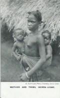 43Or  Sierra Leone Seins Nus Nue Mother And Twins - Sierra Leone
