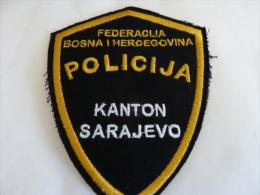 BOSNIEN BOSNIA  POLICIJA KANTON SARAJEVO - Stoffabzeichen
