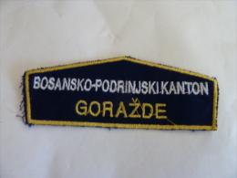 BOSNIEN BOSNIA  POLICIJA GORAZDE - Stoffabzeichen
