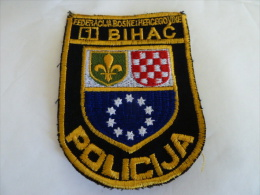 BOSNIEN BOSNIA  POLICIJA  BIHAC - Stoffabzeichen