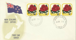 New Zealand 1979 Rose Overprinted 4c FDC - FDC