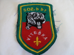 BOSNIEN BOSNIA  502. VITESKA - Stoffabzeichen
