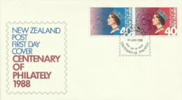 New Zealand 1988 Centenary Of Philately FDC - FDC