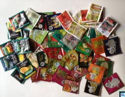 50 Different Sri Lanka Empty Tea Bags, Ceylon - Labels