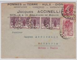 1927 - ENVELOPPE Avec ORPHELINS YVERT N° 231 RECOMMANDEE De NICE Pour L'ITALIE - RARE ENSEMBLE - Cartas
