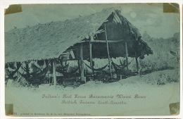 Guyana British Guiana Indian's Rest House Baramanie Waini River  P.used 1902 Edit 6762 Von Ziegesar - Cartes Postales