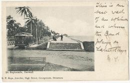 Guyana British Guiana 56 Esplanade Seewall Tramway Tram Edit R.P. Kaps Jeweller Used 1907 - Postkaarten