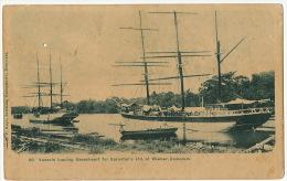 Guyana British Guiana 99 Vessels Loading Greenheart For Sproston's Ltd At Wismar Demerara - Cartes Postales