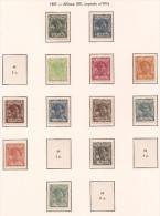 GUI43-L4145TAN.Espagne.Sp Ain.Guinee.GUINEA ESPAÑOLA ALFONSO XIII  1907.(Ed 43/58**)RARA - 1889-1931 Reino: Alfonso XIII