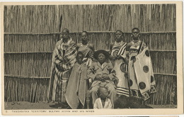 5 Tanganyaka Sultan Ikoma And His Wives ( 6 ) Edit Tuck - Tanzanie