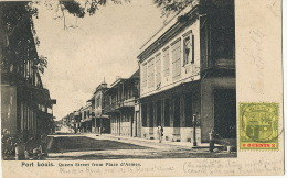 Port Louis Queen Street From Place D' Armes P. Used To France Undivided Back - Maurice