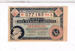 Billets De Loterie. DES REGIONS LIBEREES Exlusivite Concession 1935........ L03  48 - Billets De Loterie