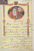 CPA:Art Nouveau:W. Hampel:Femme à La Fleur - Illustrateurs & Photographes