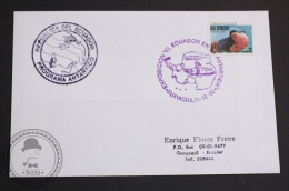 December 11, 1992 Cover - El Ecuador En La Antartida, Guayaquil - Galapagos Fragata Stamp - Ecuador Antarctic Program - Programmes Scientifiques