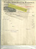 94 - Val-de-marne - ARCUEIL - Facture RASPAIL - Produits Hygiéniques – 1910 - France